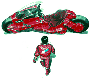 Akira y su motarda