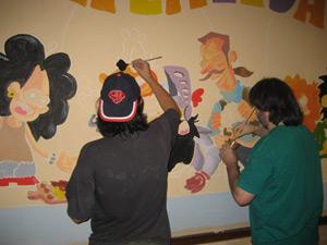 el mural de malavida, en proceso