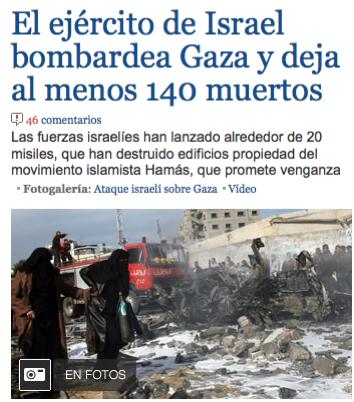 Israel masacra en navidad