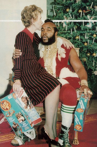 Nancy Reagan y Mister T