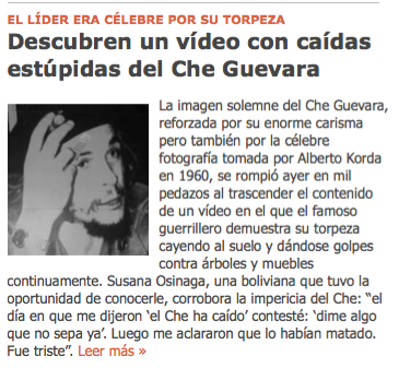 El Che Guevara, en la intimidad