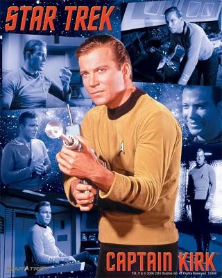 Capitan Kirk, de Star Trek