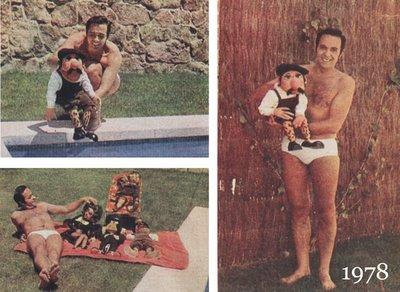 Jose Luis Moreno posa en bañador