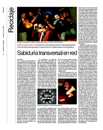 Jordi Costa sobre Reflexiones de Reronto- Artículo en Culturas 21-01-2009