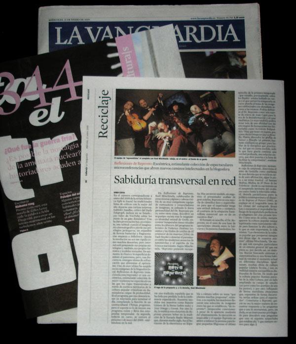 Reflexiones de Repronto en el diario La Vanguardia