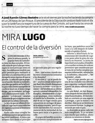 El progreso de Lugo, 5 de abril de 2009