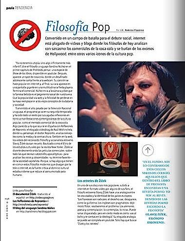 Repronto y Zizek en la revista Paula